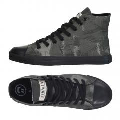 Ethletic Sneaker vegan HiCut Collection 18 - Farbe dove camo olive / black aus Bio-Baumwolle