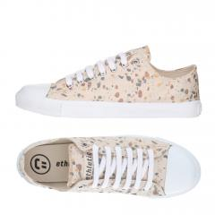 Ethletic Sneaker vegan LoCut Collection 18 - Farbe terrazzo caramel / white aus Bio-Baumwolle