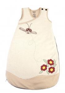 hanf schlafsack flowers f r babys 6 12 monate aus hanf und bio baumwolle kaufen im hanfwaren. Black Bedroom Furniture Sets. Home Design Ideas