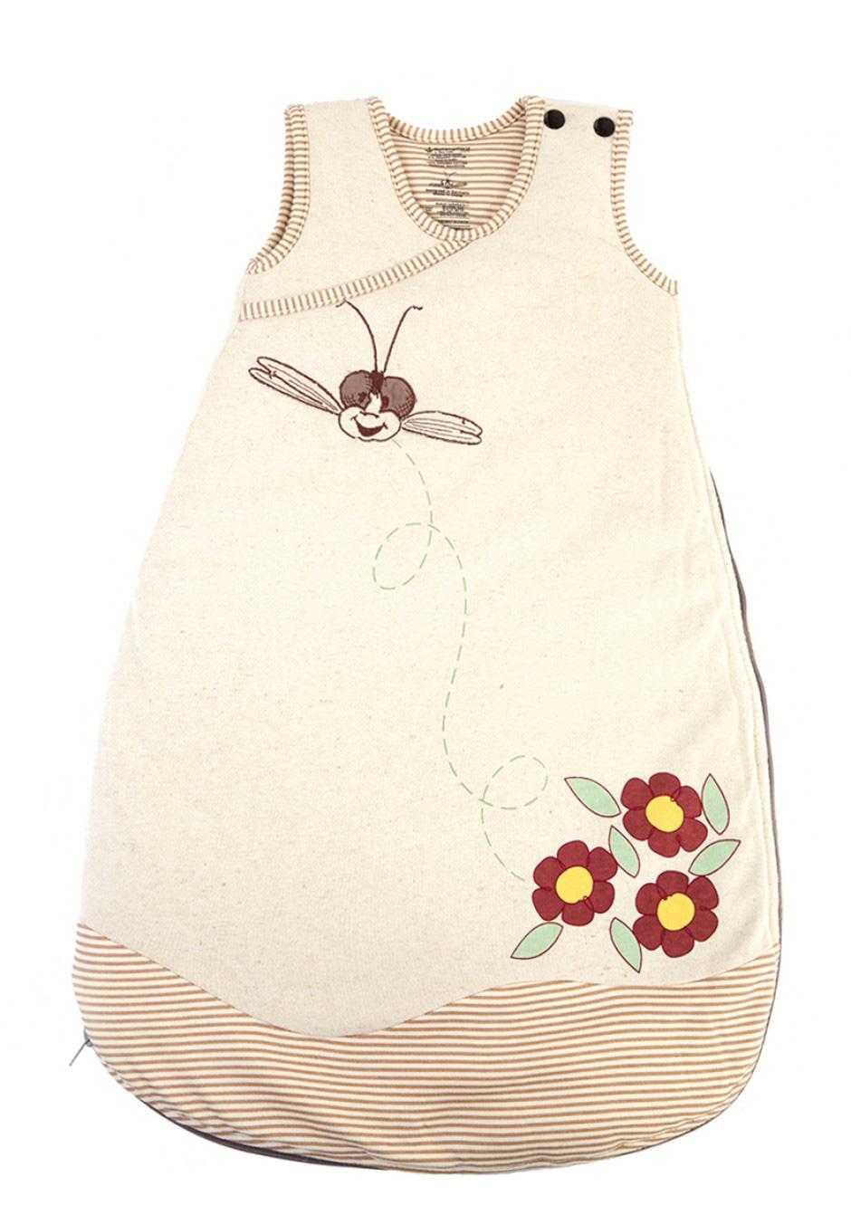 hanf schlafsack flowers f r babys 6 12 monate aus hanf. Black Bedroom Furniture Sets. Home Design Ideas