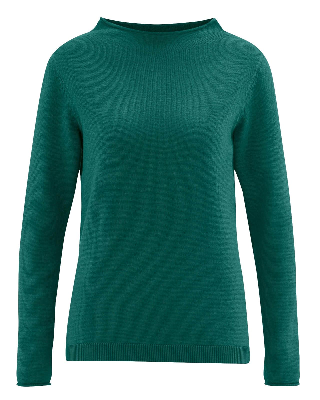 quality design ddf8f e04ac HempAge Hanf Pullover - Farbe spruce aus Wolle und Bio-Baumwolle